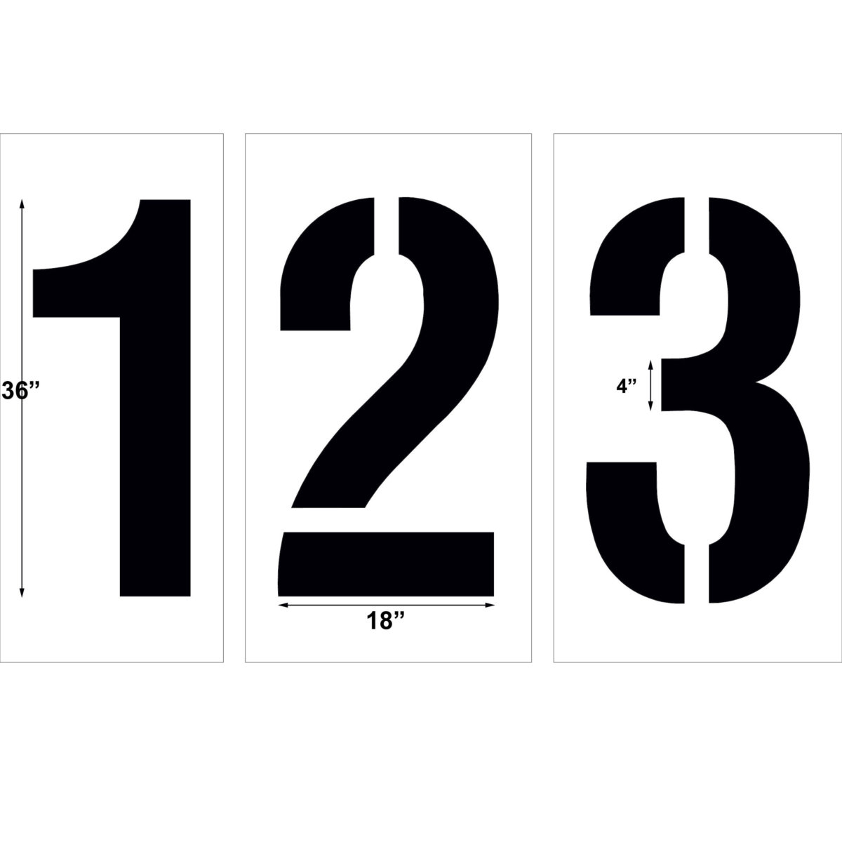 36 inch number kit stencil