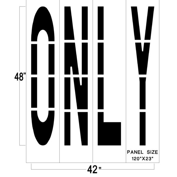 48 inch federal only stencil