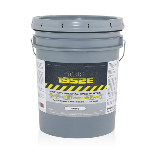 Our fast-dryingpermanent traffic is a formulated to spray crisp, sharp lines, that are extremely durable and bright.<strong> Dries rapidly making it an excellent choice for areas where traffic needs to resume quickly.</strong> This asphalt marking paint is resistant to heavy traffic and weather conditions.Order parking lot striping paint today! <ul> <li>Minimizes traffic control</li> <li>Dries in less than 10 minutes</li> <li>Meets Federal Specification</li> <li>Excellent Glass Bead Retention.</li> <li>Superior Hiding, Brightness and Durability</li> </ul> <strong>This road striping paint is not available for shipping to HI, AK and PR. </strong> <strong>1 gal. pails are temporarily not available for sale in CA.</strong>