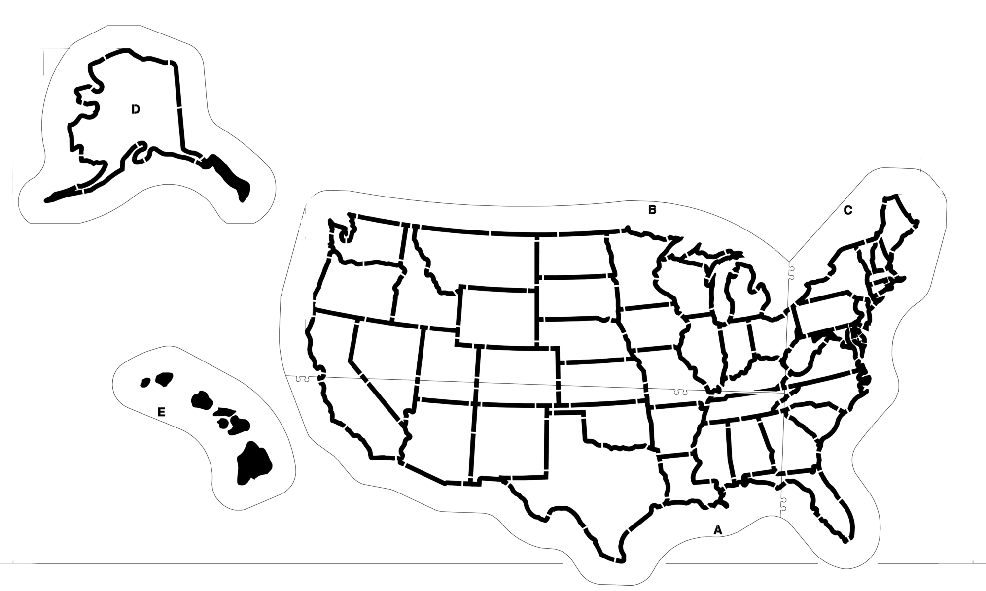US Map Playground Stencil Large US Map Stencil Newstripe - Us map stencil