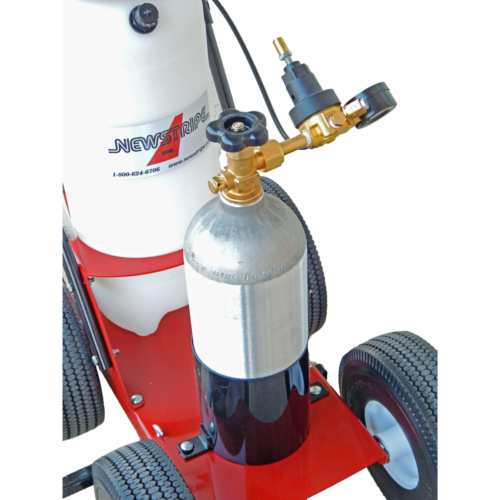 """Select the optional CO2 power pack to eliminate pumping and mark up to 8 miles of 4"""" wide lines with each filling."""