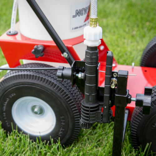 """<span id=""""````spanProductDetailHeader````""""><span class=""""````text1````"""">The<b> FieldLiner 3<span style=""""````font-size: ``;""""><sup>™</sup></span> Hand Pump FieldStriper Machine </b>has four 10 inch flat free wheels, a full loop handle and hand control lever, making it easy to control for straight, accurate lines. The handle also folds to easily transport and store this field paint sprayer.</span></span> <span id=""""````spanProductDetailHeader````""""><span class=""""````text1````""""><b>Simple to use -</b><b> </b>A built-in hand pump pressurizes the paint. The easy to read pressure gauge lets you keep the paint pressure exactly right on this field striper machine.</span></span> <span id=""""````spanProductDetailHeader````""""><span class=""""````text1````""""><b>Easy to Clean-</b></span></span><span id=""""````spanProductDetailHeader````""""><span class=""""````text1````""""> simply tip the machine over the front wheels onto the handle and you can flush out the tank. The tank includes a wide opening for easy filling, a pressure gauge and safety relief valve<b>.</b></span></span><span id=""""````spanProductDetailHeader````""""><span class=""""````text1````""""> </span></span> <span id=""""````spanProductDetailHeader````""""><span class=""""````text1````""""><b>Up-gradable -</b></span></span><span class=""""````text1````""""><b> </b>Mark 30 percent faster with the available</span>CO<sup>2</sup><span id=""""````spanProductDetailHeader````""""><span class=""""````text1````""""> power pack. One charge of the CO<sup>2</sup> cylinder will markup to 8 miles of 4 inch wide line vs hand pumping. Cylinders can beeasily refilled at local welding, beverage, and paint ball supply companies. The typical refill charge is $5 to $10. </span></span> <span id=""""````spanProductDetailHeader````""""><span class=""""````text1````""""><b>Brighter Lines-</b></span></span><span id=""""````spanProductDetailHeader````""""><span class=""""````text1````""""> Get heavier, brighter lines, that will last much longer than with aerosol paints. Plus there are no toxic cans to dispose of. </span></span>"""