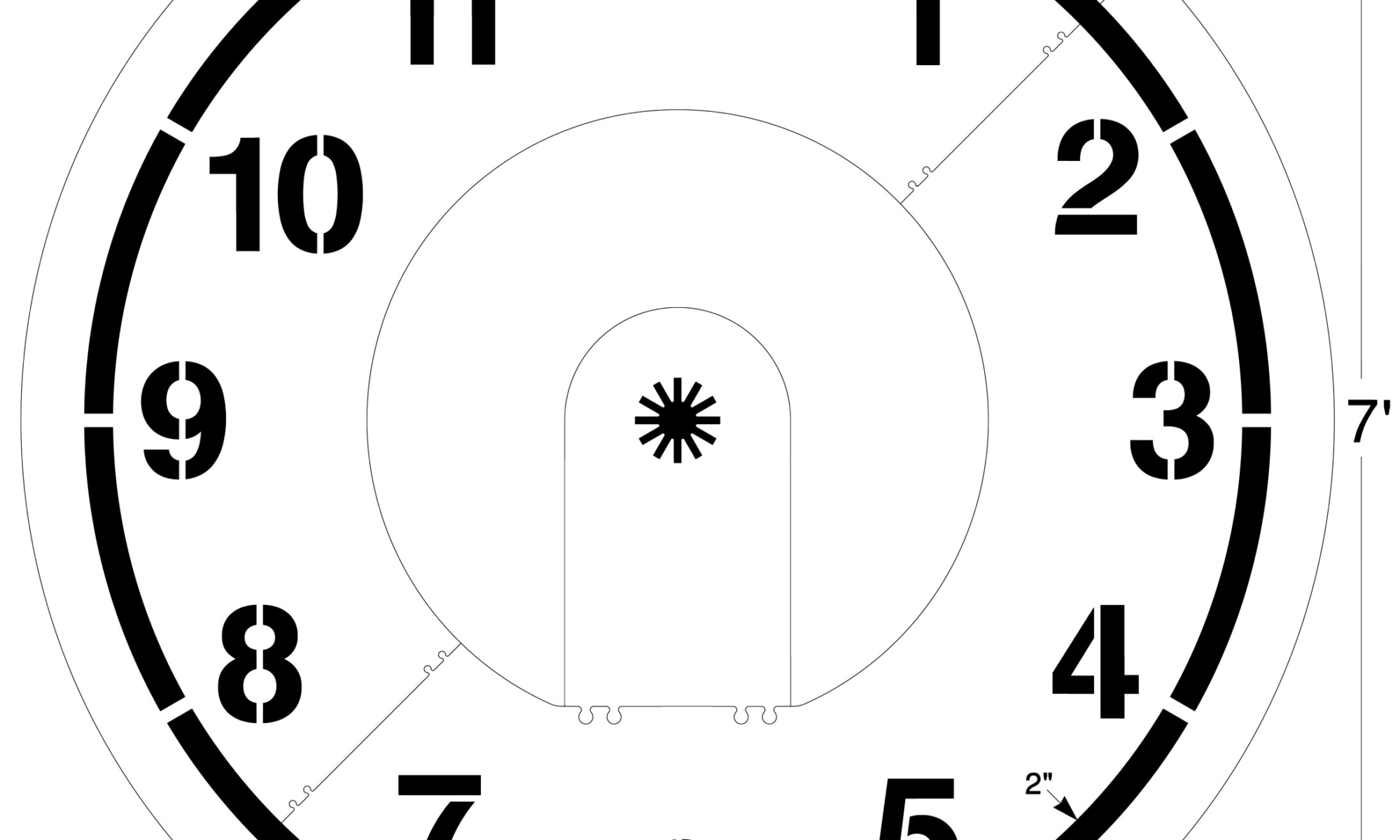<strong>What time is it? </strong> With the <strong>Clock Stencil</strong> children can practice learning how to tell time in a fun environment. Kids can use their hands, bodies, or chalk to indicate the correct time. <strong>1/8 inch </strong><strong> (125 mil) <strong>Lifetime Warranty</strong></strong>