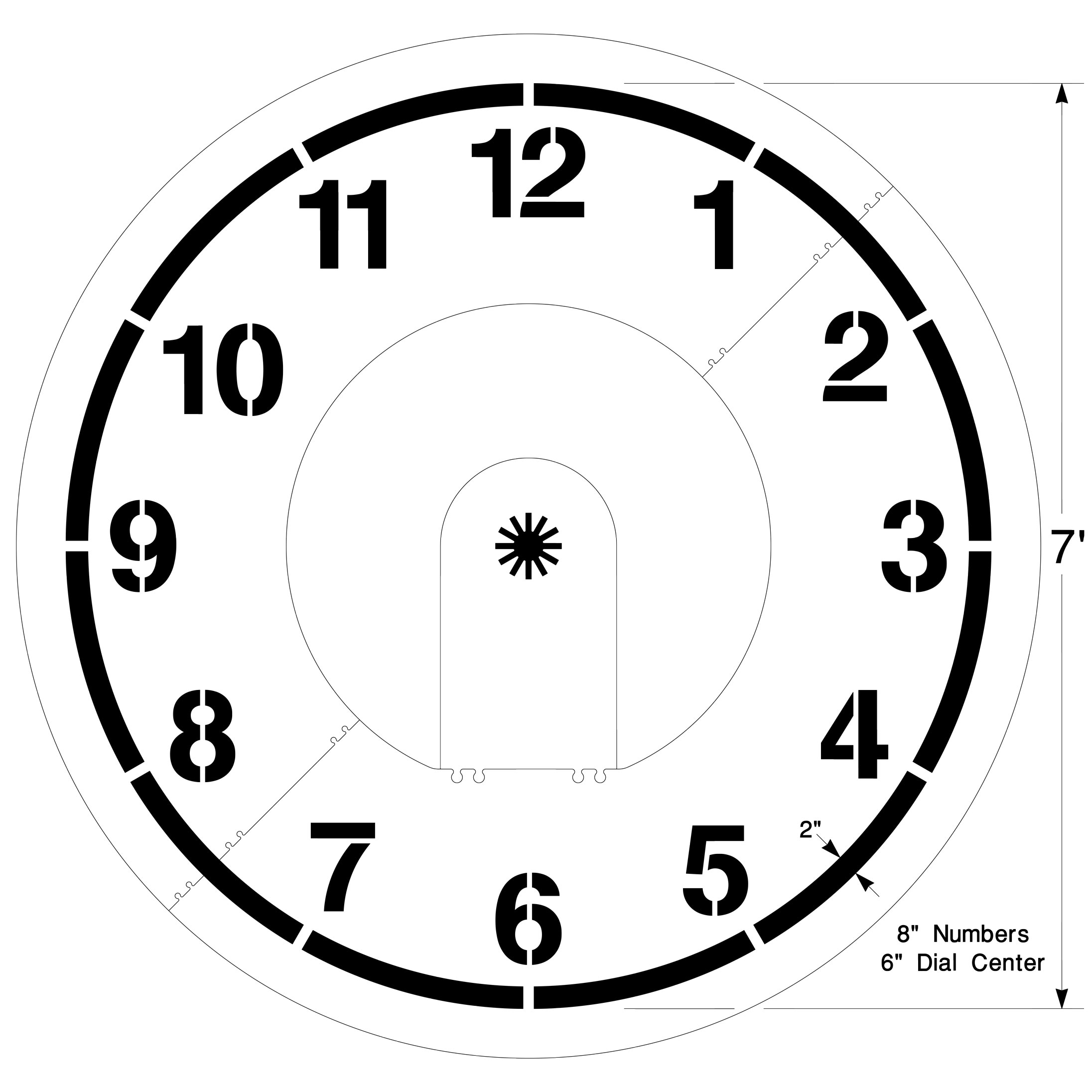 Clock Playground Stencil Large Clock Face Template