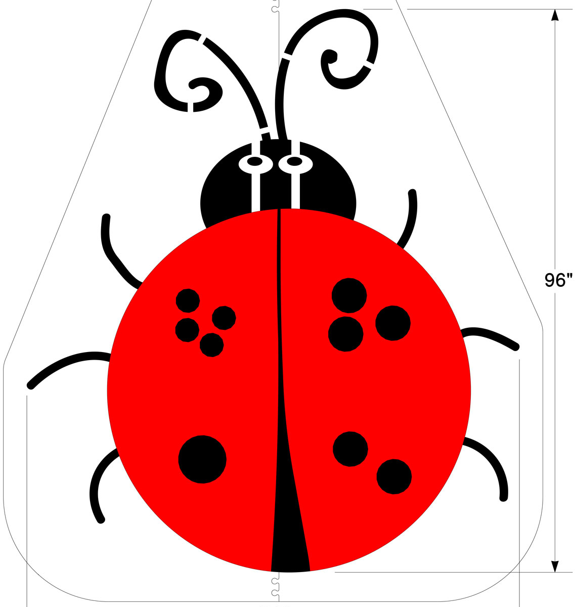 This updated Four Square stencil shaped like a ladybug adds color and character to the traditional playground game. <strong>1/8 inch </strong><strong> (125 mil) <strong>Lifetime Warranty</strong></strong>