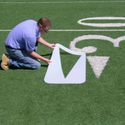 Football Field Stencils